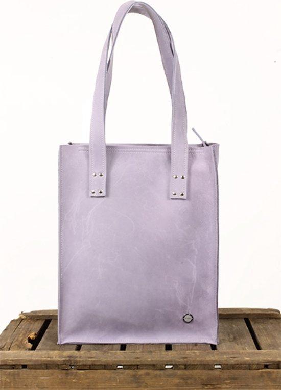 8a472bd928e bol.com | Shopper leren tas Lila