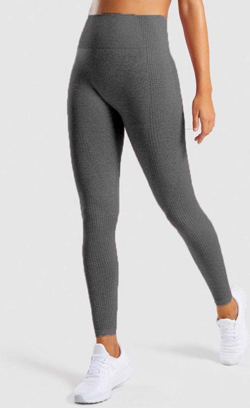Chibaa Fitness/Yoga legging - Fitness legging - sport legging Stretch - squat proof - donker grijs - Naadloos - Maat S
