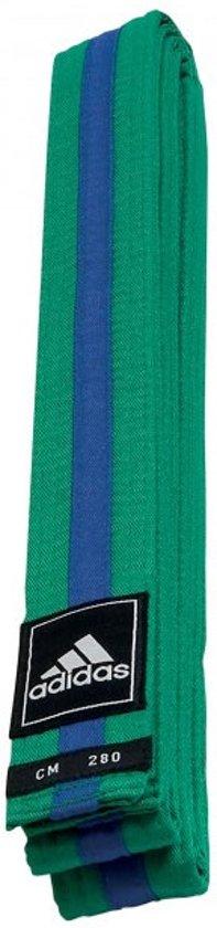 Adidas Taekwondoband Poomsae Groen/blauwe Streep Maat 260 Cm