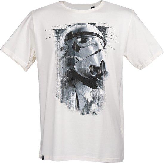 Star-Wars-T-shirt-met-korte-mouw-wit - Maat M