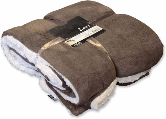Unique Living Lars - Fleece - 150 x 200 cm - Taupe