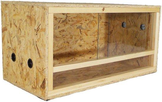 Terrarium van hout - Medium - 80 cm x 40 cm x 40 cm