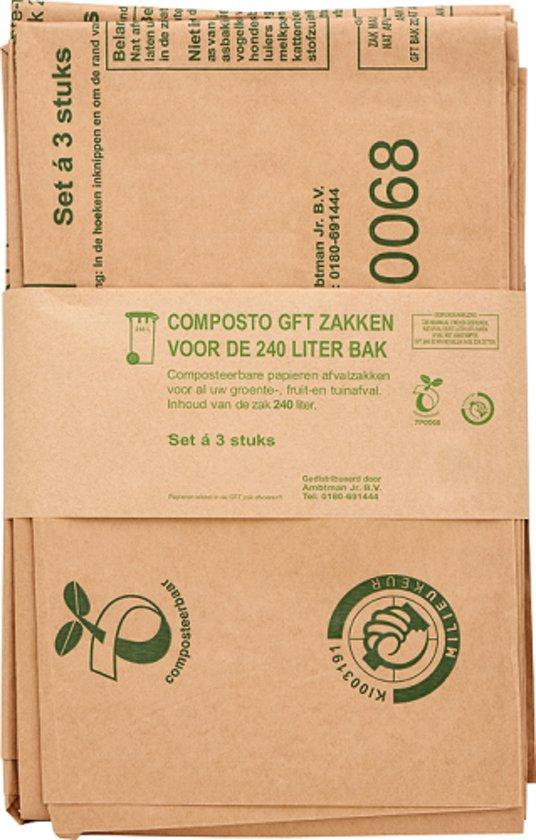 Composto GFT 240L containerzak set a 3 stuks