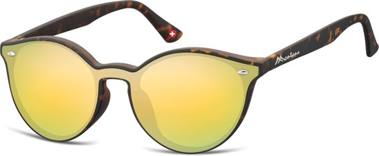 fb59557ab54611 Montana MS46C- zonnebril-havana-goud spiegel