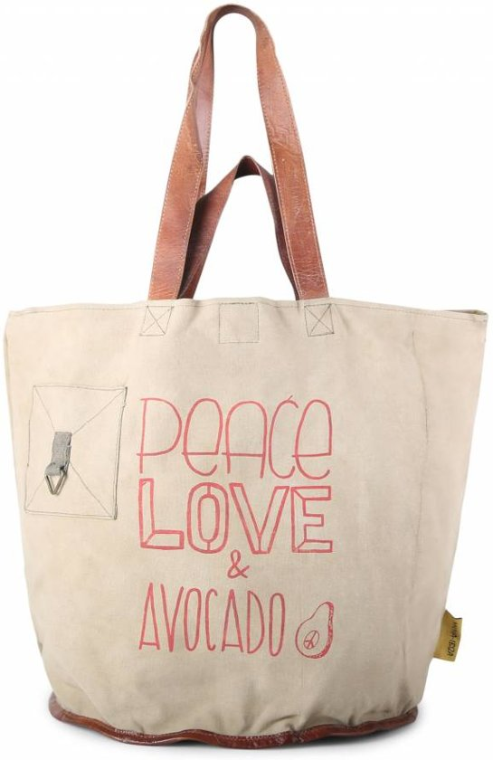 1038 Shopper Clutch Mycha Strandtas IbizaTas Hengsels Avocado Loveamp; Lederen Peace Talamanca SGjVqMLzpU