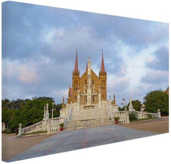 St Patrick kathedraal Canvas 80x60 cm - Foto print op Canvas schilderij (Wanddecoratie)