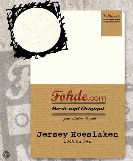 Fohde Hoeslaken Jersey hoeslaken - 100 X 200 cm - Beige