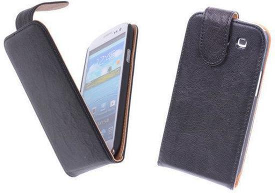 BestCases Nevy Zwart Kreukelleer Flipcase Hoesje Samsung Galaxy S3