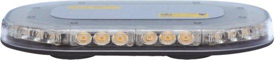 Compacte zwaailamp - 47mm hoog - R10 / R65 certificering - 30 LED ORANJE