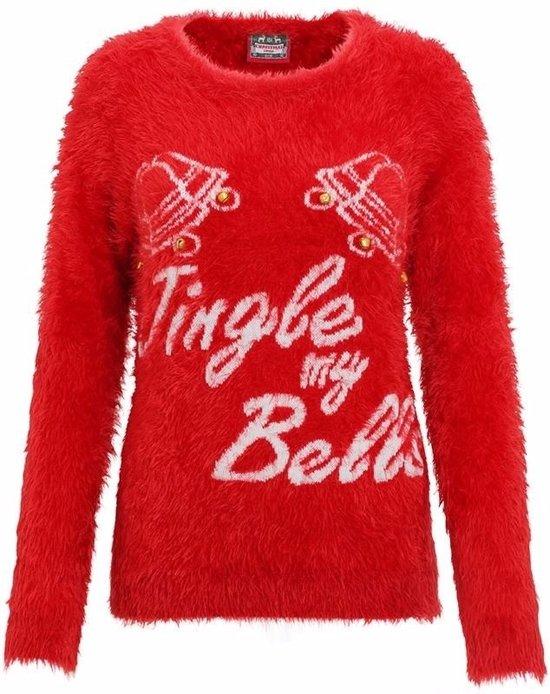 Rode dames kersttrui Jingle my Bells S