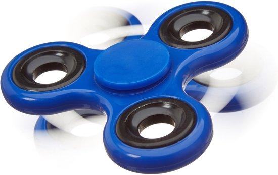 relaxdays - fidget spinner - tri-spinner 58g - hand spinner, anti-stress draaier blauw