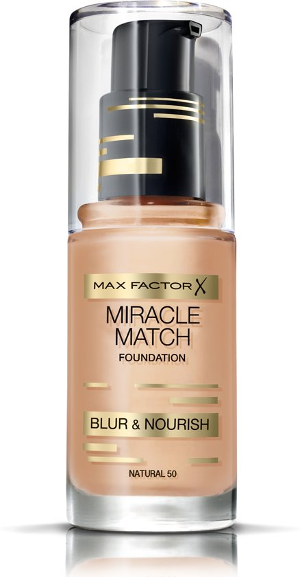 Max Factor Miracle Match Blur & Nour Foundation - 50 Natural