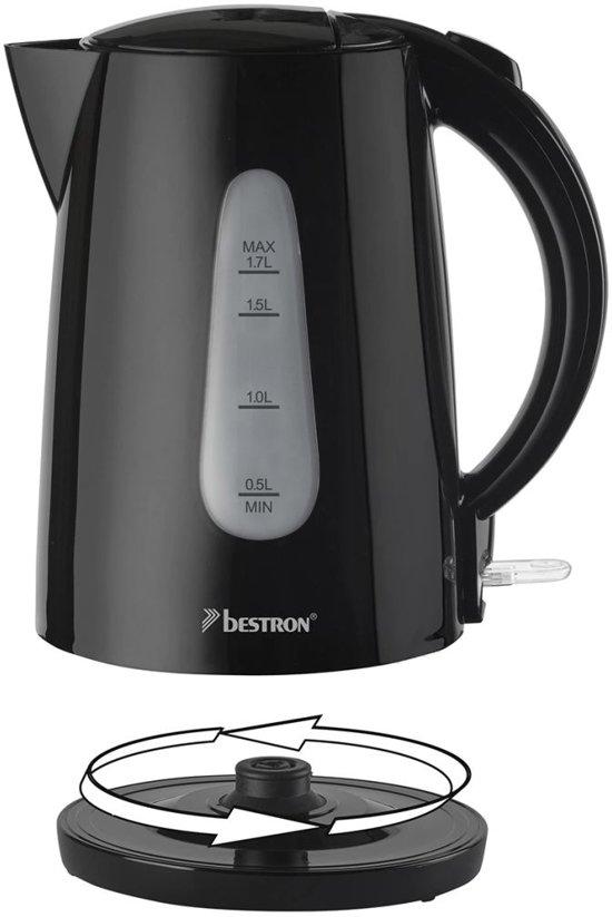Bestron Waterkoker 2200 W 1,7 L zwart AWK1700Z