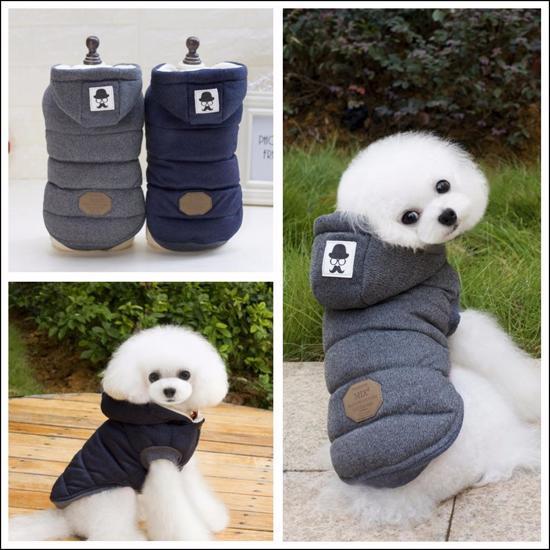 Hondenjas Winter – Spat Waterdicht – Fleece Binnenkant – Grijs – Maat S