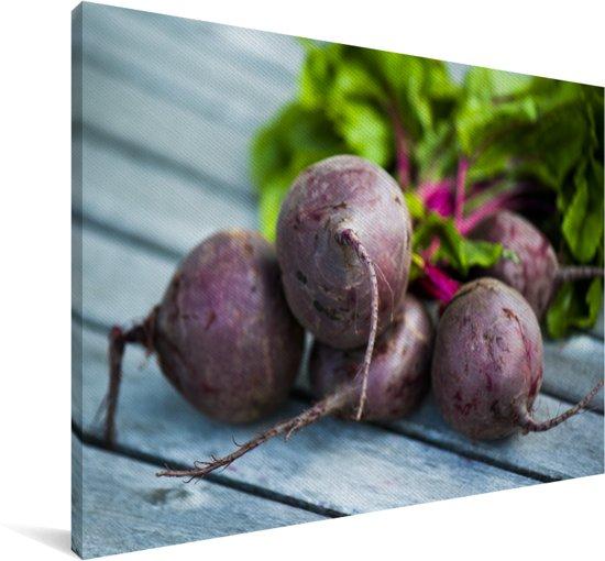 Kleurrijke foto van bietenwortels Canvas 60x40 cm - Foto print op Canvas schilderij (Wanddecoratie woonkamer / slaapkamer)