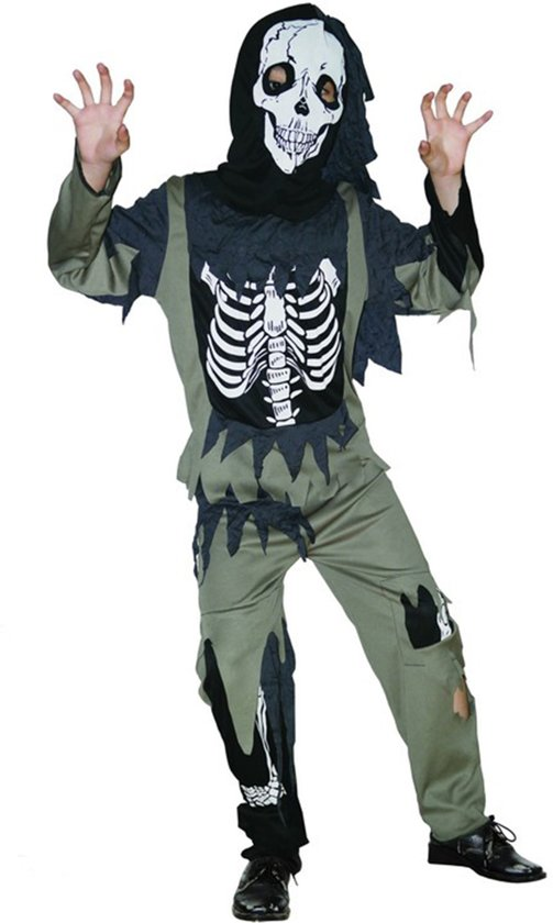 Halloween Verkleedkleding Kind.Skeletten Zombie Halloween Kostuum Voor Kinderen Verkleedkleding Maat 122 128