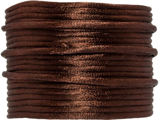 Satijnkoord (2 mm) Chestnut (15 Meter)