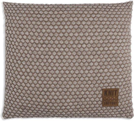 Knit Factory Juul Kussen - Marron / Beige 50 x 50 cm