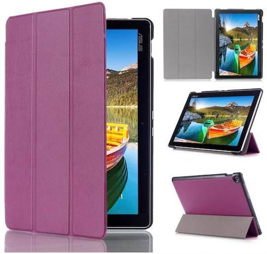Asus Zenpad 10 Z300 Tri-Fold Book Case Paars