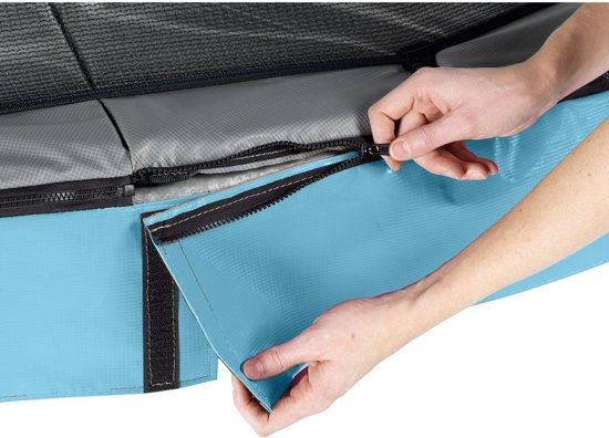 EXIT Elegant Premium trampoline 214x366cm met veiligheidsnet Deluxe - blauw