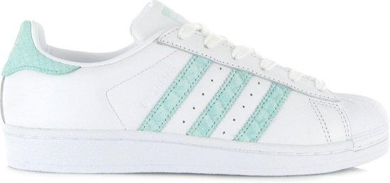 adidas superstar turquoise wit