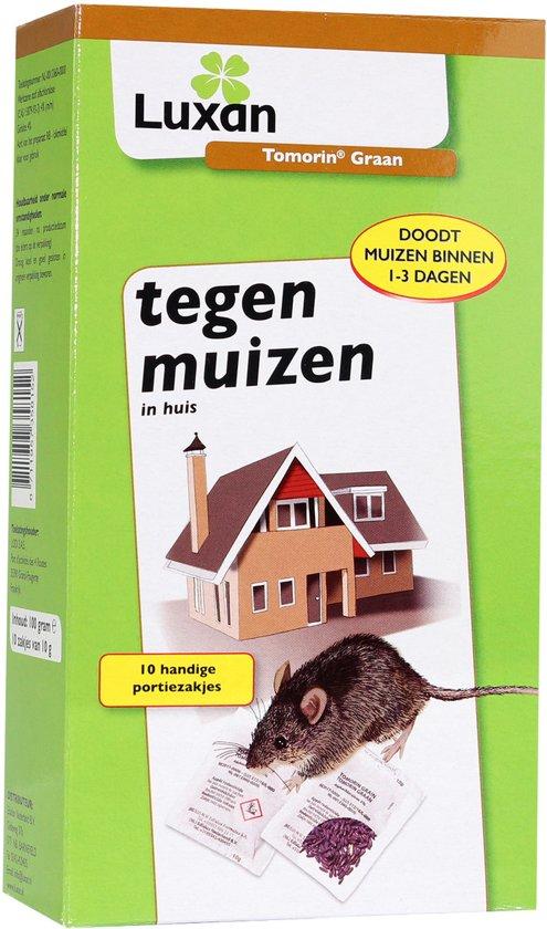 Luxan Tegen Muizen 100 gram, 10 zakjes van 10 gram