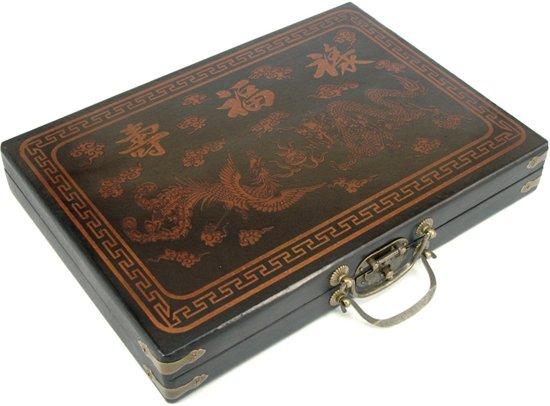 Mah-Jong in luxe houten koffer M