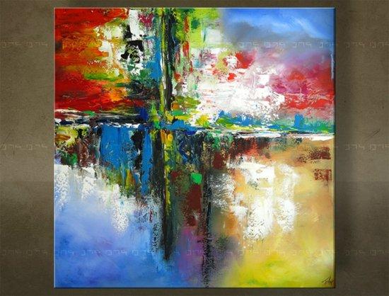Genoeg bol.com | Handgeschilderd schilderij Abstract 1 delig 5993FA #TM58