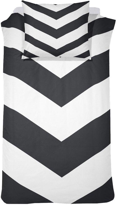 Damai Dekbedovertrekset katoen 140 x 200/220 cm chevron black