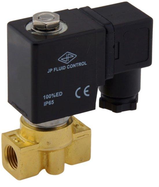 Magneetventiel HP-DA 1/4'' Messing PTFE 0-75bar 12V DC - HP-DA014B010P-012DC