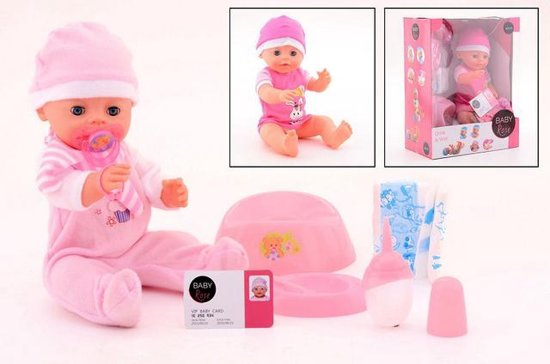 Baby Rose Plaspop 40cm - Badpop - Drinkpop
