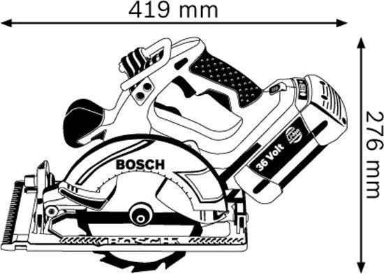 Bosch Professional GKS 36 V-LI Accu cirkelzaag - 54 mm zaagdiepte - Met 2 x 2,6 Ah accu's, snellader en opbergkoffer