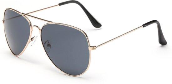 Hidzo Zonnebril Aviator Brons - UV 400 - Zwarte Glazen