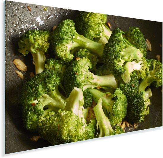 Roergebakken verse broccoli Plexiglas 60x40 cm - Foto print op Glas (Plexiglas wanddecoratie)