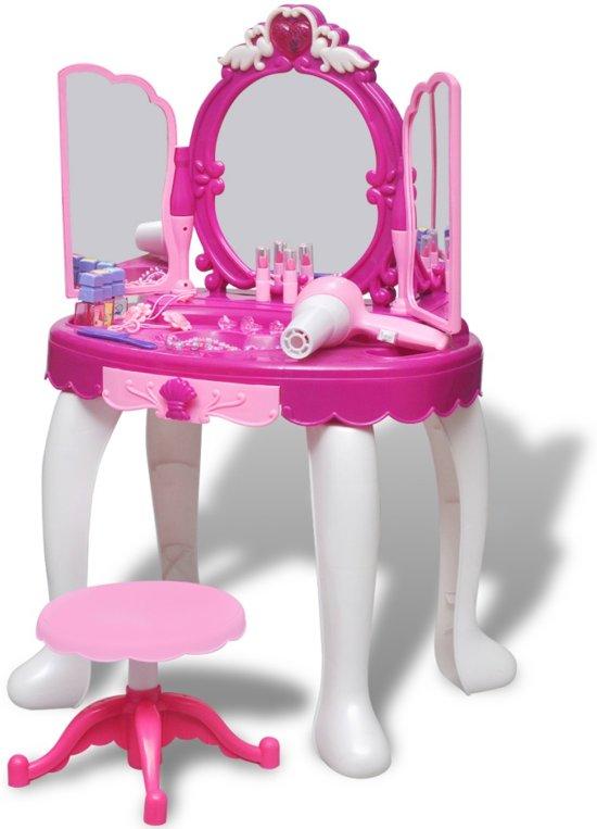 Kaptafel Met Spiegel En Licht.Kaptafel Speelgoed Kaptafel Speelgoedkaptafel Staand Met 3 Spiegels En Licht Geluid Roze Paars