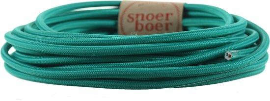 Snoerboer - Turquoise strijkijzersnoer - per meter aan 1 stuk