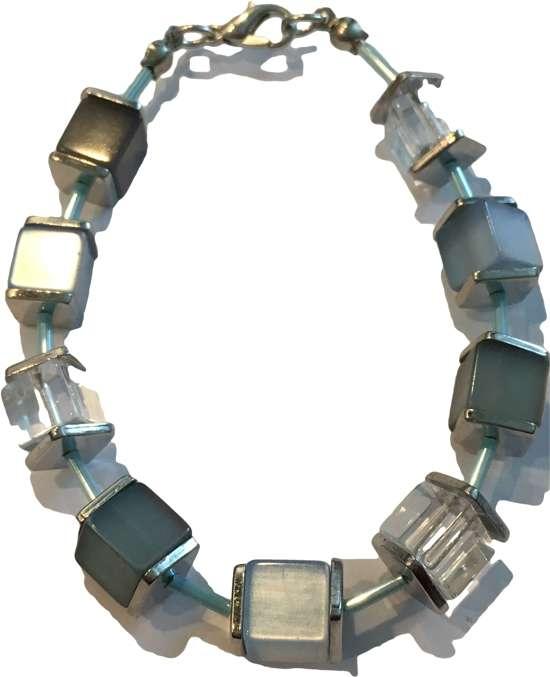 Petra's Sieradenwereld - Armband blokjes en buisjes (110)