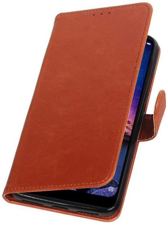 Bruin Pull-Up Booktype Hoesje voor XiaoMi Redmi Note 6 Pro