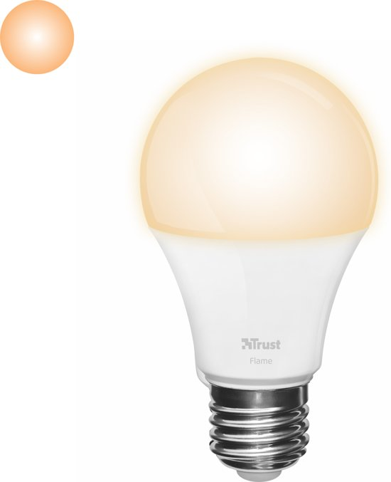 trust smart home dimbare e27 led lamp flame