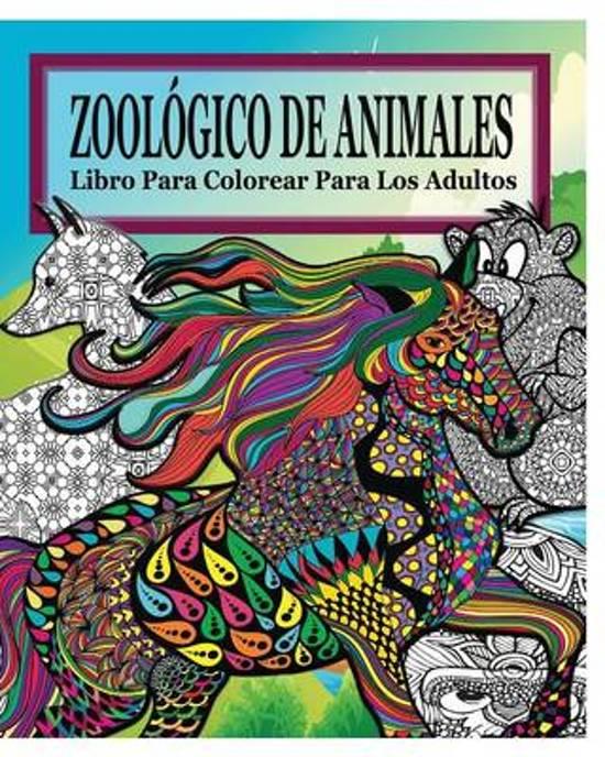 Zoologico de Animales Libro Para Colorear Para Los Adultos