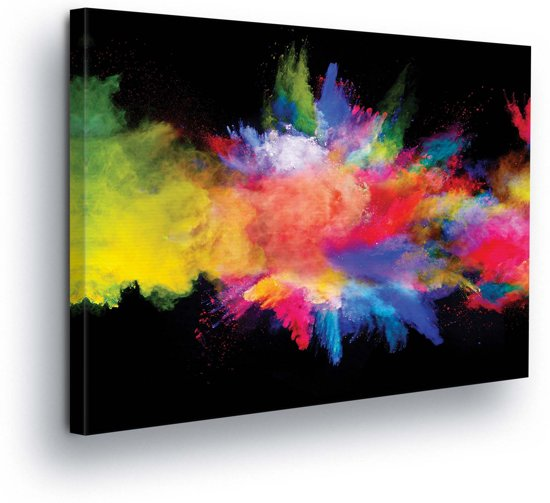 Colorful Explosion Canvas Print 80cm x 60cm