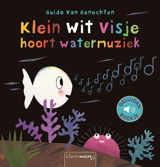 Klein wit visje hoort watermuziek