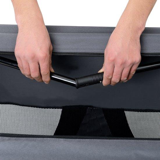[pro.tec]® Dieren transportbox - reismand - grijs - M