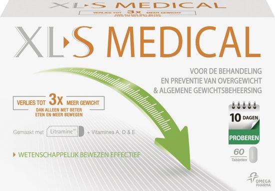XL S Medical Vetbinder Helpt bij afvallen - Eetlustremmer - 60 tabletten