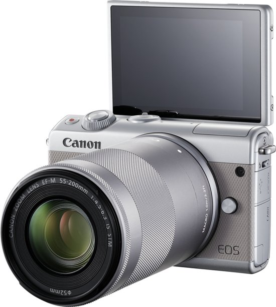 Canon EOS M100 15-45mm + 55-200mm - Zilver