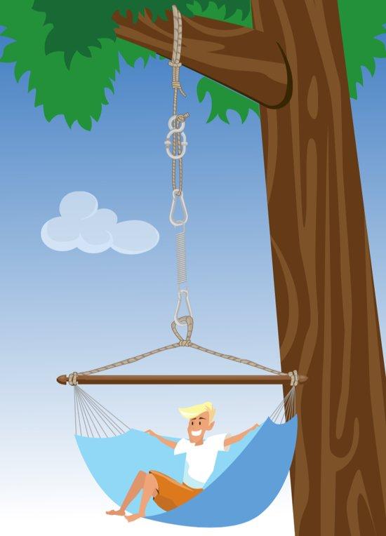 Hangstoelbevestiging 'Simple' wit