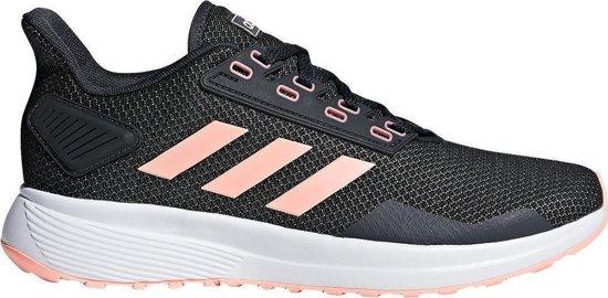 adidas Duramo 9 Sportschoenen - Maat 40 2/3 - Vrouwen - zwart/roze/wit