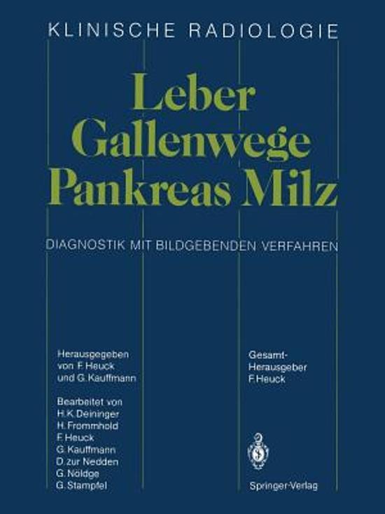 bol.com | Leber, Gallenwege, Pankreas, Milz | 9783642709258 | Boeken