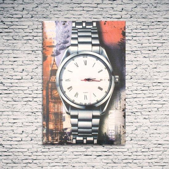 DS Canvas stedenprint Parijs - Klok - Rechthoekig - Canvas - 60x40 cm - Goud