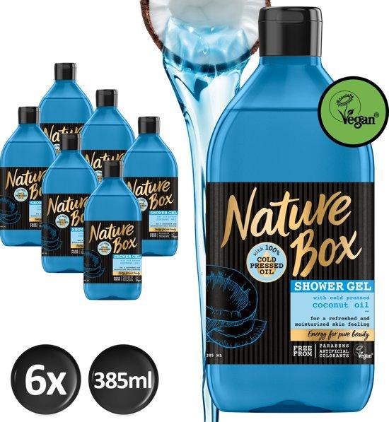 Nature Box Kokos Douchegel Vegan 385ml - 6 stuks - Voordeelverpakking